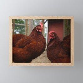 Chicken Sisters Framed Mini Art Print