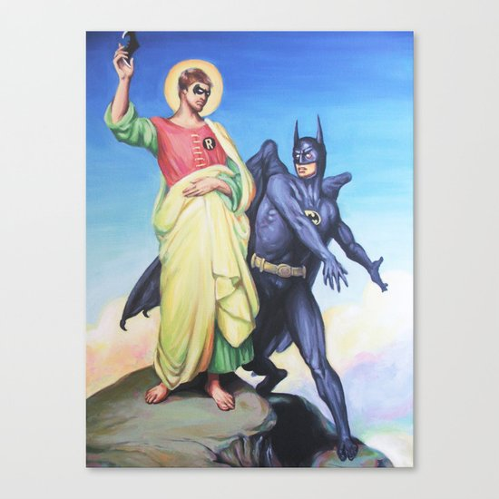 Temptation of Robin Canvas Print