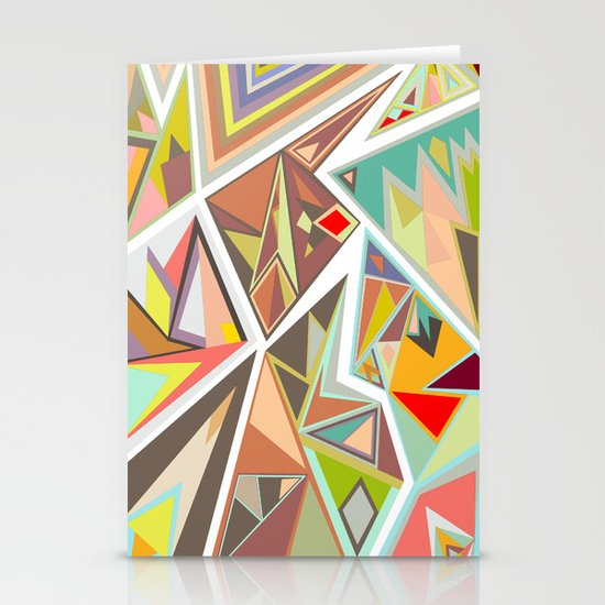 Shattered Glass Stationery Cards