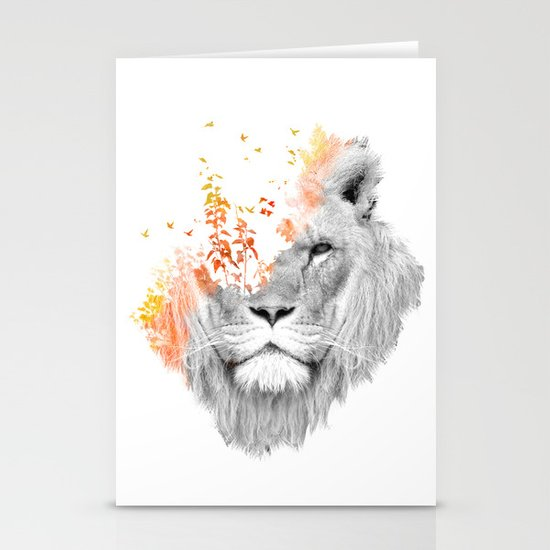 If I roar (The King Lion) Stationery Cards