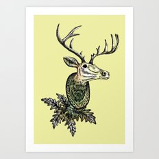 Deer Head Art Print