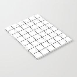 Grid Simple Line White Minimalist Notebook