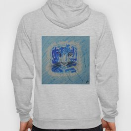 Electric  Blue Tiger Hoody
