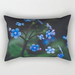Tiny Blue Flowers Rectangular Pillow
