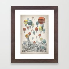 Voyages over Edinburgh Framed Art Print