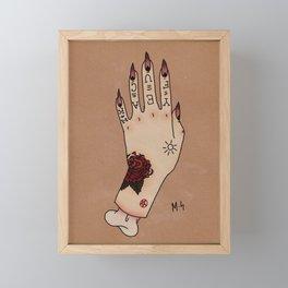 Tattooed Hand Framed Mini Art Print