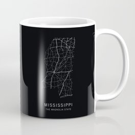 Mississippi State Road Map Coffee Mug