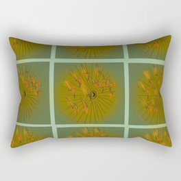 Taking Flight - Olive Orange Yellow & Black Palette Rectangular Pillow