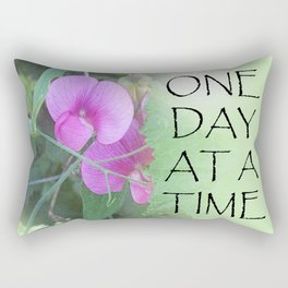 One Day at a Time Sweet Peas Rectangular Pillow