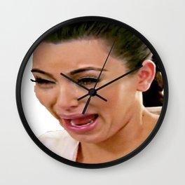Kim K Crying Wall Clock