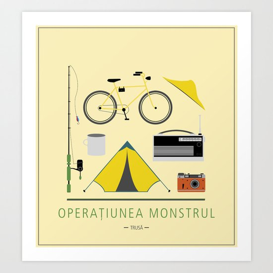 "ROMANIAN MOVIE ""OPERATIUNEA MONSTRUL"" Art Print"