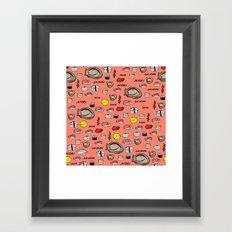 Sushi Zo Pattern Framed Art Print