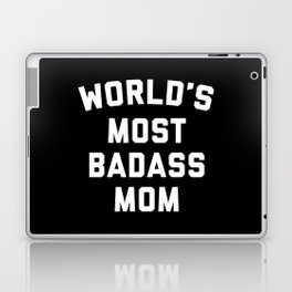 Badass Mom Funny Quote Laptop & iPad Skin