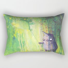 the shmorbled panda with an owl at the leash Rectangular Pillow