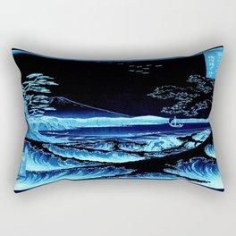 The Sea at Satta : Blue Rectangular Pillow