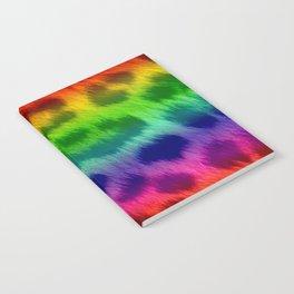 Rainbow Leopard Print Pattern Design Notebook
