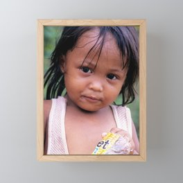 Young Filippino Lady. Framed Mini Art Print