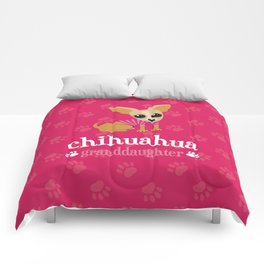 Chihuahua Granddaughter Pet Owner Dog Lover Pink Comforters