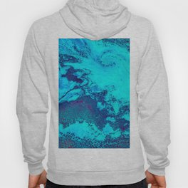 Electric Blue and Magenta Swirl (Color) Hoody