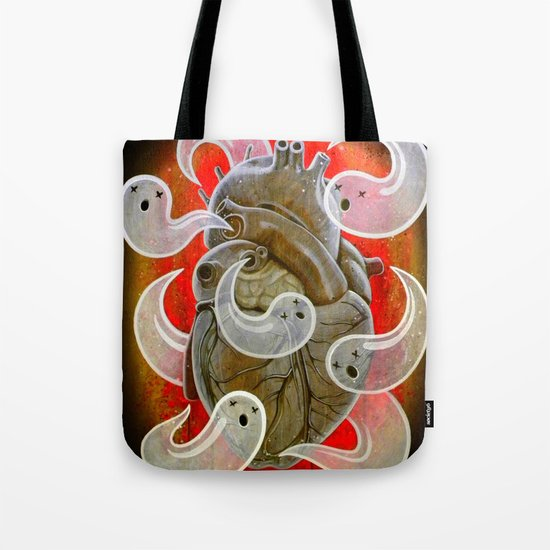 """""""A HEART FULL OF GHOSTS"""" Tote Bag"""