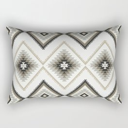 Beige Aztec Rectangular Pillow