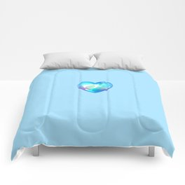Crystal Heart Solo Version - Blue BG Comforters