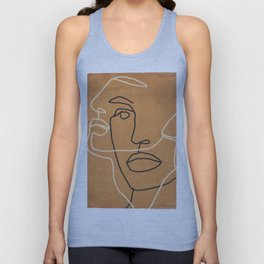 Abstract Face 6 Unisex Tank Top