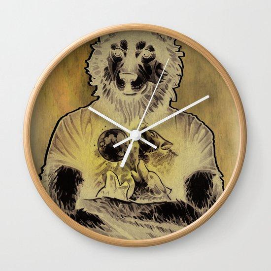 Four Wolf Moon Wall Clock
