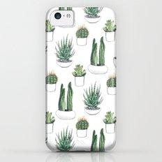 watercolour cacti and succulent iPhone 5c Slim Case