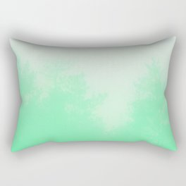Out of focus - cool green Rectangular Pillow