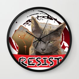 Earl for the Resist Wall Clock