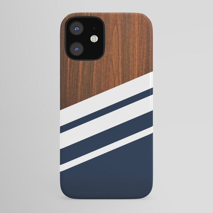 Wooden Navy iPhone Case