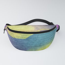 Bold Watercolor Words 4 Fanny Pack