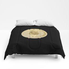 Black Gold Moon and Stars #1 #decor #art #society6 Comforters