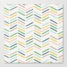 Mixed Herringbone - in Emerald Canvas Print