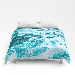 Deep Turquoise Sea - Nature Photography Comforters