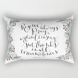 Rejoice Always Rectangular Pillow
