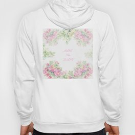 Save The Date  - Garland of roses Watercolor painting Hoody