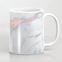 Rosegold Pink on Gray Marble Metallic Foil Style Coffee Mug