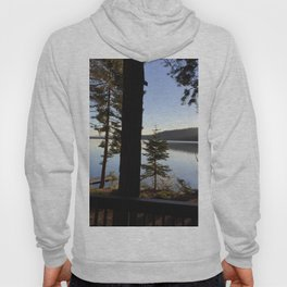 Lake Tahoe cabin view Hoody