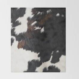 Cowhide Farmhouse Decor Throw Blanket