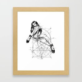 Samael Lilith and the Golden ratio Framed Art Print