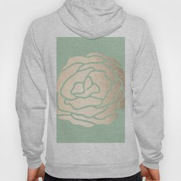 Rose White Gold Sands on Pastel Green Cactus Hoody