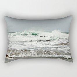 Sea Breaks on the Tidal Shelf Rectangular Pillow