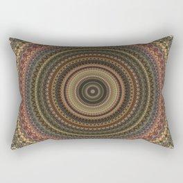 Vintage Bohemian Mandala Textured Design Rectangular Pillow