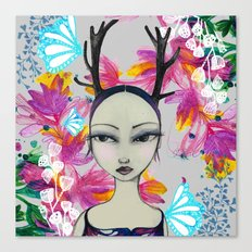 Fawn Woodland Gal Canvas Print