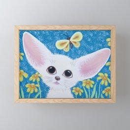 Little Fennec Fox Framed Mini Art Print