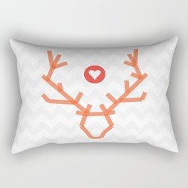 Heart of stag Rectangular Pillow