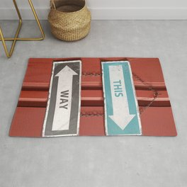 This Way - Which Way? Confusing Street Signs Rug