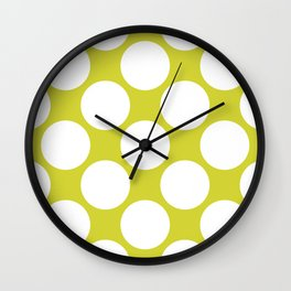 Polka Dots Green Wall Clock